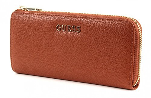GUESS-Damen-Geldbrsen-Brsen-Portemonnaies-Brieftaschen-Cognac-195-x-9-x-25-cm-B-x-H-x-T
