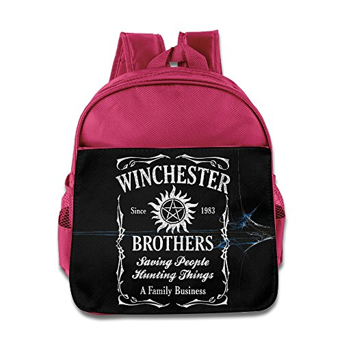 Supernatural Business Family Winchester Brothers Kids School Pink Backpack Bag (Sam And Dean Doll compare prices)