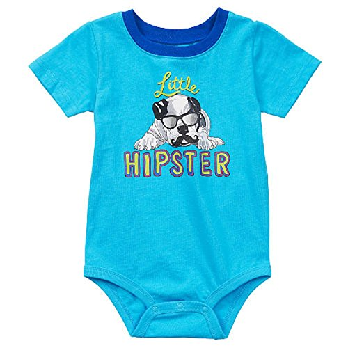 Koala Baby Little HIPSTER Dog Baby Boys Bodysuit Outfit