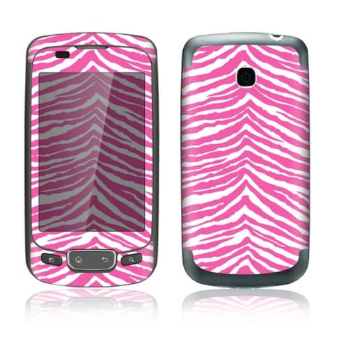 Pink Zebra Design Decorative Skin Cover Decal Sticker for LG Optimus One P500 Cell Phone