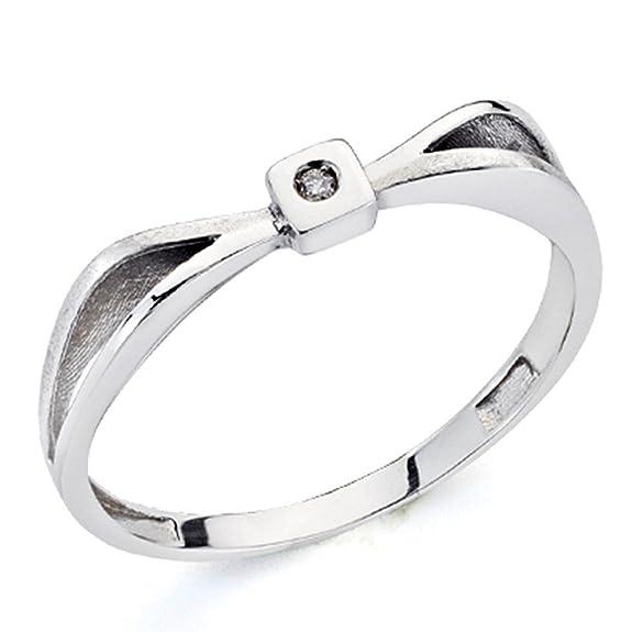 18k white gold ring sparkling diamond 0,01ct 1 [7305]