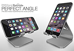 Desktop phone stand, Spinido Aluminum phone dock stand for All iPhones and Smartphones, (Space Gray)