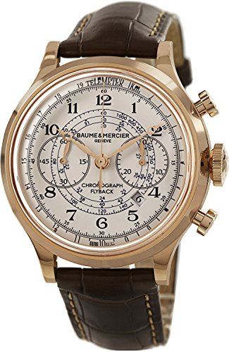 baume-et-mercier-capeland-10007-44mm-automatic-18k-rose-gold-case-brown-leather-anti-reflective-sapp