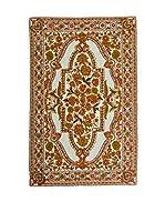 QURAMA Alfombra Chain Stitch Beige/Multicolor 153 x 92 cm