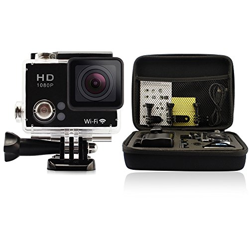 GeekPro 2.0 Plus Sports Camera Bundle with Battery, Bag and Accessories (15 Items)