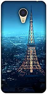 The Racoon Grip printed designer hard back mobile phone case cover for Meizu M3 Note. (eiffel tow)