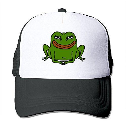 MZONE Personalized Mesh Cap Hat Pepe The Frog Trucker Visor Cap Black