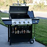SUPER-SPACE-Premium-Quality-Patio-Stainless-Steel-Barbecue-Grill-BBQ-Gas-Grills-4-Burner-Side-Burner-Total-60000-BTU-with-Seasoning-Shelf
