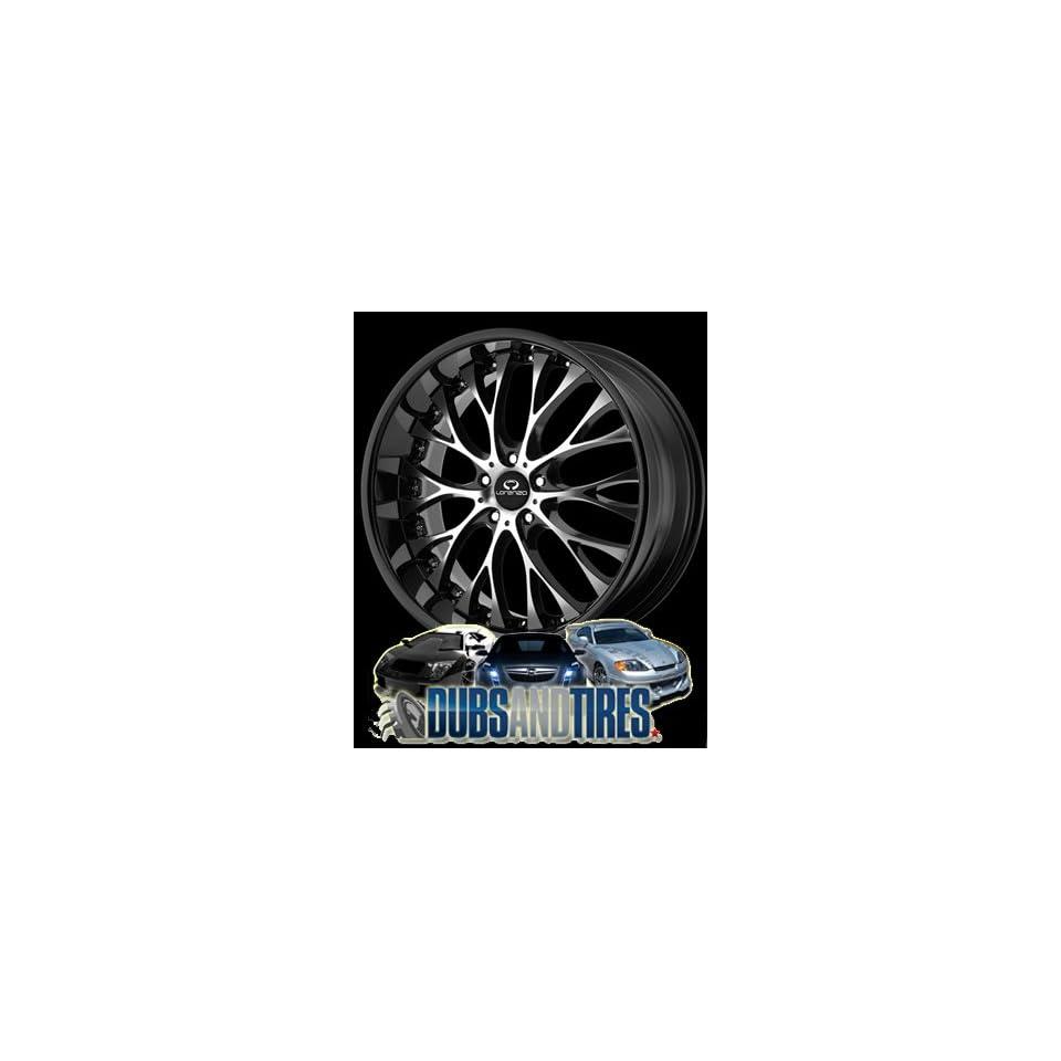 20 Inch 20x8.5 LORENZO wheels WL27 Gloss Black w/ Machined Face wheels rims