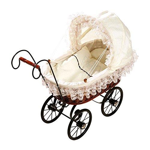 Korb-Puppenwagen Antik