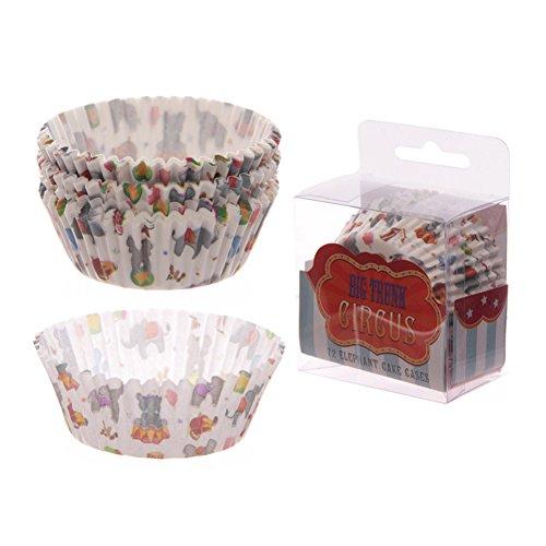 Envase de{72} casos de papel para magdalenas (diseño de circo)