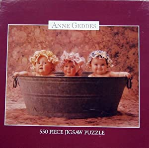 Anne Geddes 550pc. Puzzle-Babies in the Washtub by Ceaco