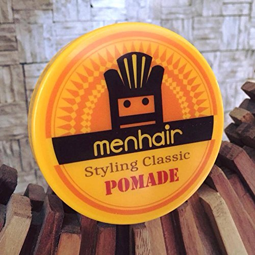 Pomade for Men Hair Styling Classic Pomade Medium Hold and High Shine - Perfect for Straight, Thick and Curly Hair - 2 OZ - MENHAIR