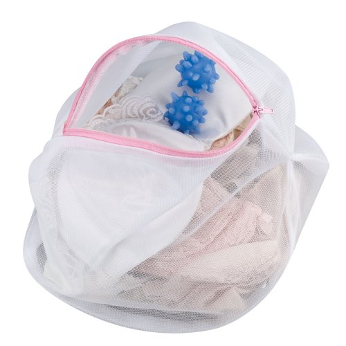 Household Essentials Mesh Lingerie Wash Bag with 2 Washer Balls (Washer Lingerie Bag compare prices)