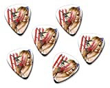 Avril Lavigne 6 X Loose guitar Picks ( Flag Design )