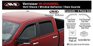 05 - 12 Toyota Tacoma Crew IN-CHANNEL Rain Guards Visors Window Deflectors AVS