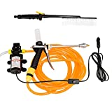 NUZAMAS 60W 12V 87PSI 4.0L/min High Pressure Washer Spray Gun Car Electric Water Cleaner Wash Pump Kit Sprayer Brush Set
