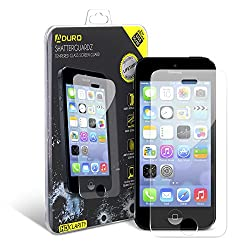 Aduro SHATTERGUARDZ Premium Tempered Glass High Clarity Screen Protector for Apple iPhone 5 / 5S / 5C