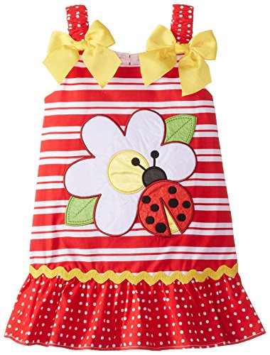 Youngland Baby-Girls Infant Ladybug Applique Sundress