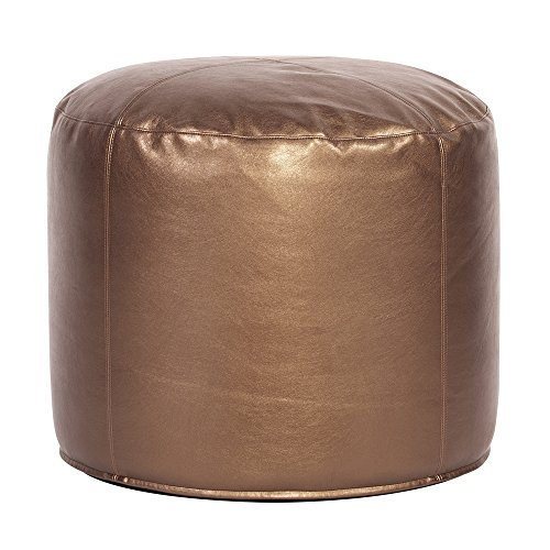 Howard Elliott 872-294 Tall Pouf Ottoman, Shimmer Bronze