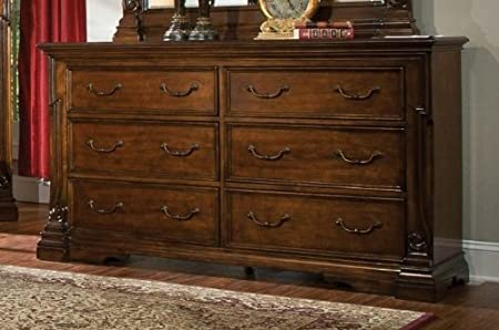 Homelegance Havenwood 6 Drawer Dresser in Warm Cherry