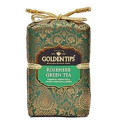 Golden Tips Roseherb Green Tea Brocade bag (250g)