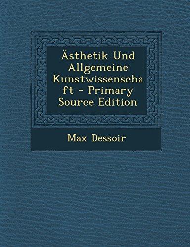 Ästhetik Und Allgemeine Kunstwissenschaft