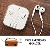 #7: Fabiant Earphones With Mic And Volume Button For Apple iPhone, iPad, iPod, Android Phones With 3.5mm Jack