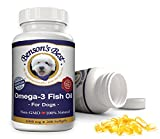 Benson's Best Omega-3 Fish Oil for Dogs - Provides 43% More Omega-3 Fatty Acids than Salmon Oil! - 200 Softgels - 100% Pure, Non-GMO, Natural Pet Food Supplement - 1000 mg Capsules