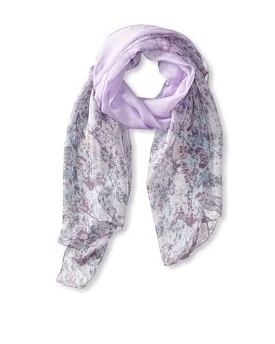 Elie Tahari Women's Ombre Abstract Snake Print Scarf, Lavender, One Size