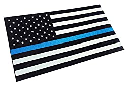 Thin Blue Line Reflective 3.75 X 2.25 Decal Sticker United States Us Flag Tactical Police Law Enforcement