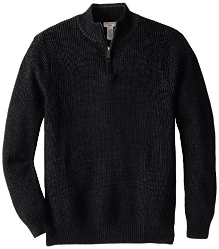 Dockers Men's Shaker Stitch 1/4 Zip, Black, 2X/Big