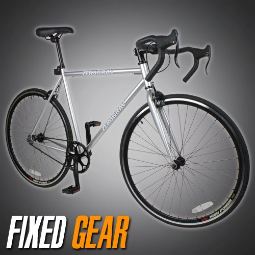 NEW 54cm Track Fixed Gear Bike Fixie Single Speed Road Bicycle - Silver Color