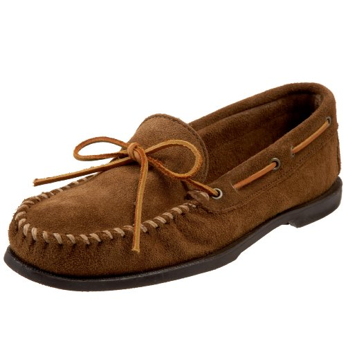 Minnetonka Men's Classic Camp Moccasin,Dusty Brown,11.5 M US