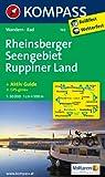 Rheinsberger Seengebiet - Ruppiner Seenland: Wanderkarte mit Aktiv Guide und Radrouten. GPS-genau. 1:50000 (KOMPASS-Wanderkarten)