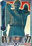 Doctor Who Alien Attax Topps - Rainbow Foil 010 Weeping Angel