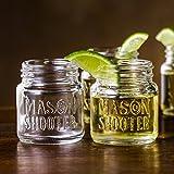 Hayley Cherie - Mason Jar Shot Glasses with Lids (Set of 8) - Mini Mason Shooter Glass - 2 Ounces
