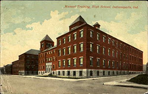 Manual Training High School Indianapolis, Indiana Original Vintage Postcard (Hoover Manual compare prices)