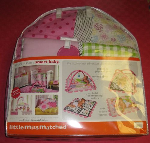 Little MissMatched 5 Piece Monkey Collection Crib Set - 1