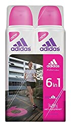 Adidas 6 in 1 Eau de Toilette for Female, 300ml (Pack of 2)
