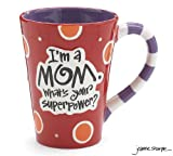 "Im A Mom, Whats Your SuperPower?"" 12oz Coffee Mug Great Gift for Mother"