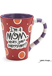 """I'm A Mom, What's Your SuperPower?"""" 12oz Coffee Mug Great Gift for Mother"""