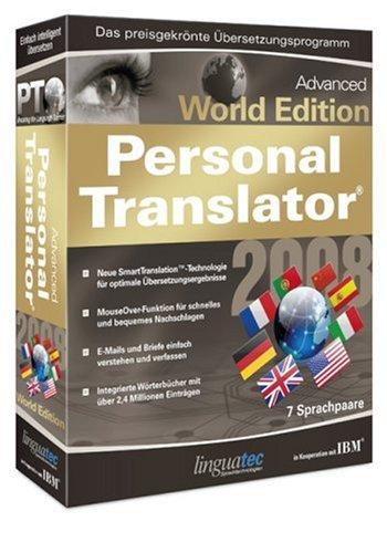 Linguatec Personal Translator 2008 Advanced World Edition Multilingual