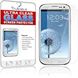 Samsung Galaxy S3 Screen Protector - Tempered Glass - Package Includes Microfiber Cleaning Cloth, Installation Tips, Tempered Glass Screen Protector - by TruShield