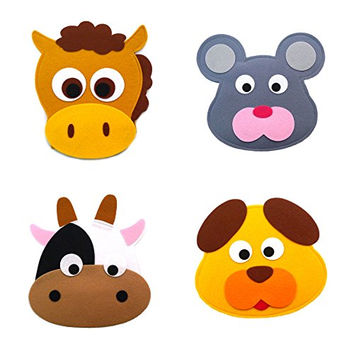Animal Headband masks horse+mouse+cow+dog