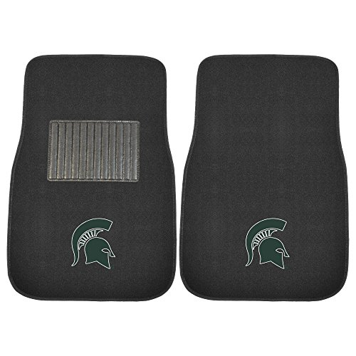 FANMATS 17603 Michigan State 2-Piece Embroidered Car Mat (Michigan State Car Mats compare prices)