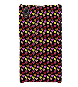 EPICCASE beddazled hearts Mobile Back Case Cover For Sony Xperia Z1 (Designer Case)