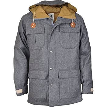 Flannel Mountain Parka 9910: Gray / Tan