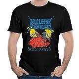 Nuclear Assault Thrash Metal Band Man Tops Tshirts Cozy Graphic Tees Black