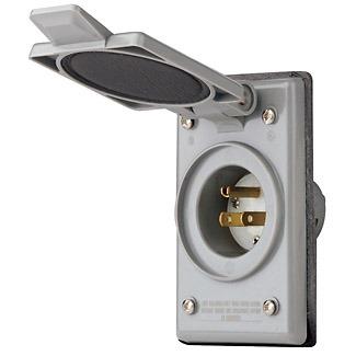 Leviton 5278-CWP 15 Amp, 125 Volt, Power Inlet Receptacle